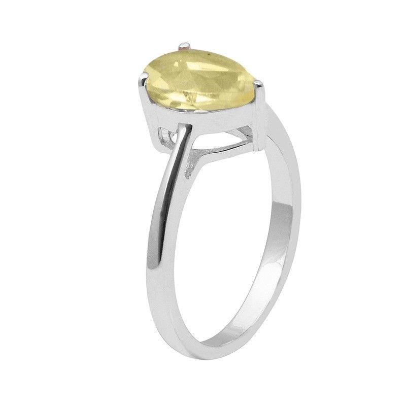 Attractive !! Lemon Topaz 925 Sterling Silver Ring Jewelry Size-8.5 SHRI1470