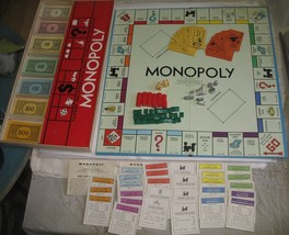 Vintage 1961 Monopoly Board Game in Original Box Complete Family Game Night - $18.81