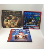 CHILDREN'S BOOKS LOT OF 3, CHRISTMAS, SNOW, PICTURE PUZZLES, JONATHAN TO... - $3.96
