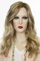 Sarah 12FS8 Blonde Long Lace Front Monofilament Hand Tied Jon Renau Wavy Wigs - $444.31