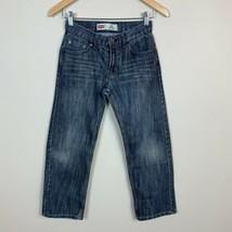 Levi's 505 10 Boys Jeans Regular Medium Dark Wash 5 Pocket Casual 25 x 2... - $11.64