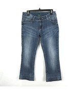 Wrangler Womens Jeans Size 7/8 Whiskered Boot Cut Stretch Embellished Po... - $27.21