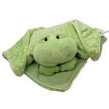 Baby Gund Green Frog Dottie Dots Baby Security Blanket lovey 58232  - $29.65