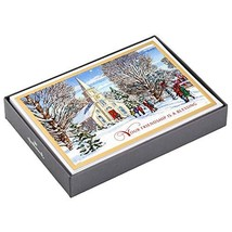Hallmark Religious Christmas Boxed Cards, Winter Church (16 Cards and 17... - $24.88