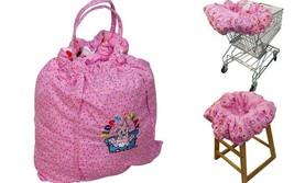 Floppy Seat Deluxe Shopping Cart and High Chair Cover with Carry Bag Pin... - $37.99