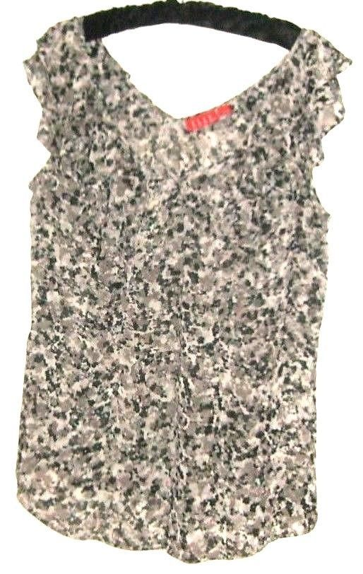 WOMEN'S PRINTED DOUBLE V NECK BLOUSE SIZE L - $8.00