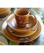 4 piece place setting Sango Splash Plate Dinner Salad Bowl Coffee Mug Tu... - $24.74