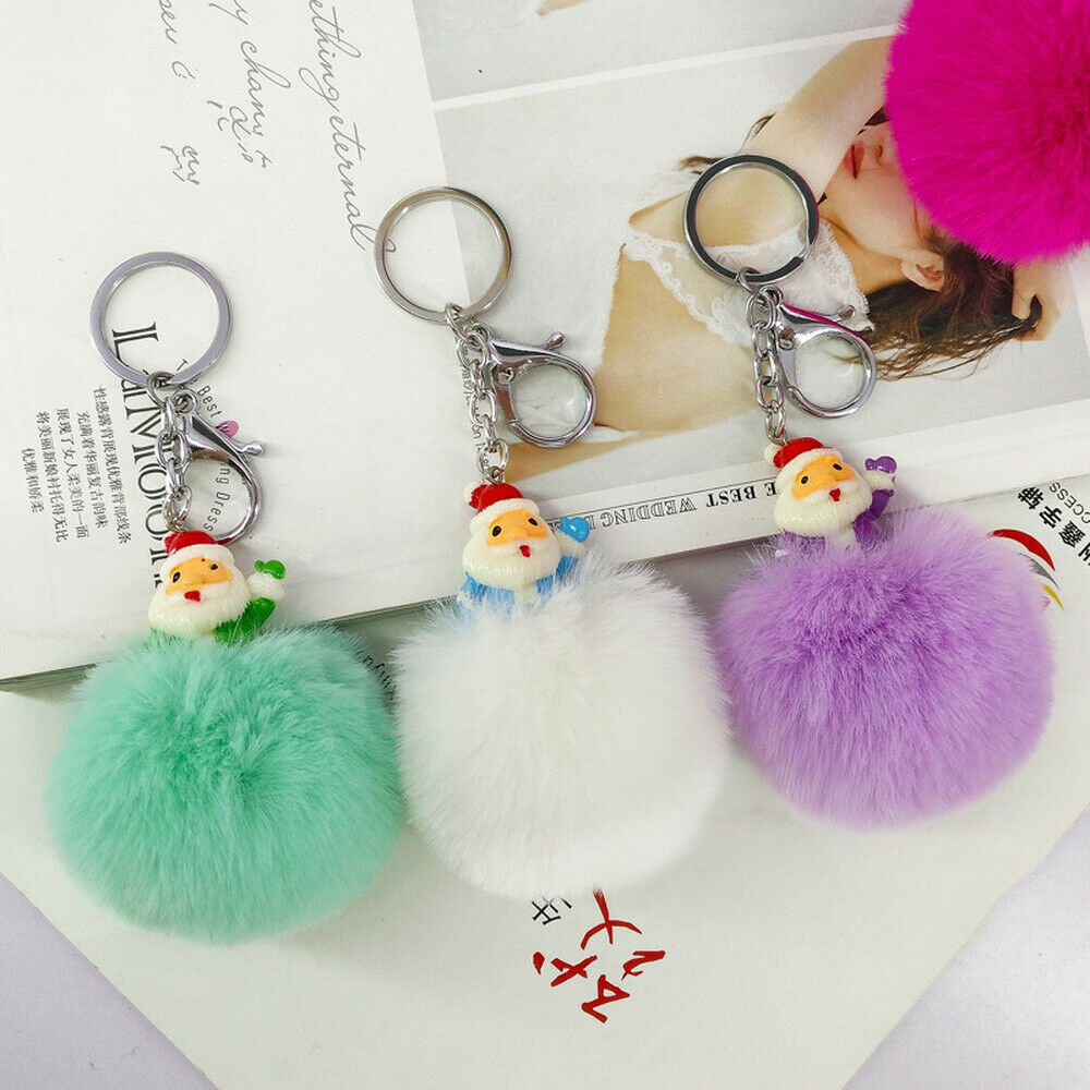 VOILEY® Christmas Ornaments Gift Santa Claus Keychain Pendant New Year Christmas