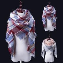 New Fashion Winter Scarf Luxury Brand Women Warm Scarf Blanket Oversized Plaid C