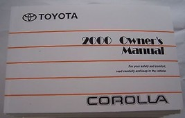 2000 Toyota Corolla Owners Manual Parts Service - $48.00