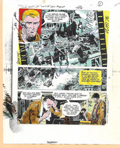 Original 1975 Our Army at War 283 Sgt Rock DC comic book color guide art page 1 - $99.50