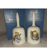1983 and 1984 Authentic Art of Berta Hummel Bells W Germany Schmid Xmas ... - $19.99