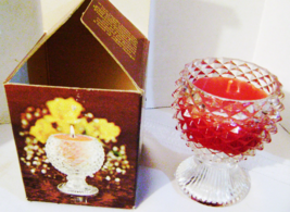 VINTAGE CUT GLASS 1975 Avon FACETS OF LIGHT BAYBERRY Candlette - $14.00