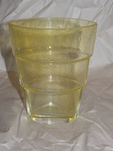 Kosta Boda Ann Wahlstrom Signed Mezzo Yellow Ovid Tiered Art Glass Vase ... - $27.23