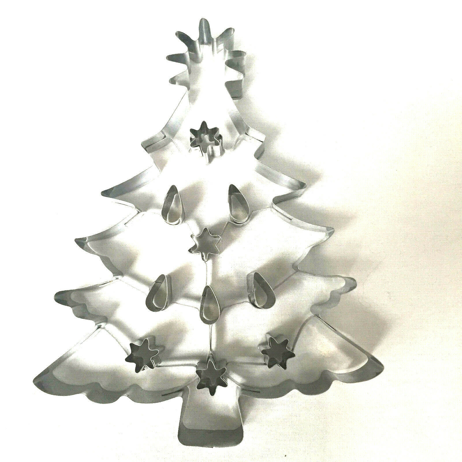 Christmas Tree Cookie Cutter Williams Sonoma Large Alunimum 8 Inches image 4