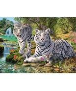 DIY Paste White Tiger Animal 3D Diamond Painting Cross Stitch Pattern Fu... - $29.35