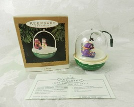Hallmark Christmas Ornament Magic Barney Light & Motion 1994 - $15.79