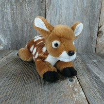 "Unipak Fawn Deer Brown Soft Plush Stuffed Animal 8"" Spotted Plastic Nose - $14.99"