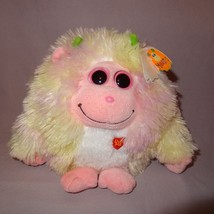 "Lola Baby Monstaz Ty Plush Stuffed Animal Sounds Pink Yellow Big Eyes 2012  7"" - $14.99"
