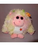 Lola Baby Monstaz Ty Plush Stuffed Animal Sounds Pink Yellow Big Eyes 20... - $14.99