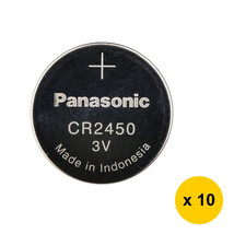 GENUINE Panasonic CR2450 3V Coin Cell Battery (10pcs) - $16.78