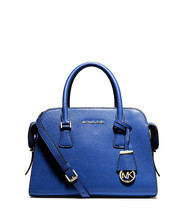 NWT MICHAEL Michael Kors Harper Blue Leather Me... - $248.00
