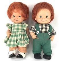1957 W.Goebel Charlot Byj Redhead Dolls Figurines Kids West Germany Lot of 2 - $49.87