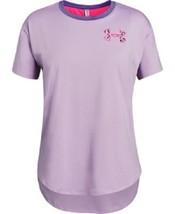 Under Armour Girls Purple HeatGear Short Sleeve T Shirt New Medium 1327877 - $15.83