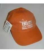 Houston Livestock Show & Rodeo Baseball Cap Hat Orange Adjustable   - €6,50 EUR
