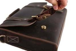 Sale, Vintage Leather Briefcase, Messenger Bag, Satchel Bag, Crossbody Bag image 5