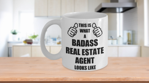 Funny Gifts For Badass Real Estate Agent Wife Husband Hubby Wifey Dad Mom Father