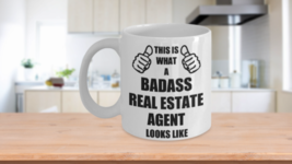 Funny Gifts For Badass Real Estate Agent Wife Husband Hubby Wifey Dad Mo... - $14.90