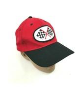 Kariert Flaggen Baseball Kappe Rot Hysterese Racer S/M Mechaniker Ricky ... - $13.74