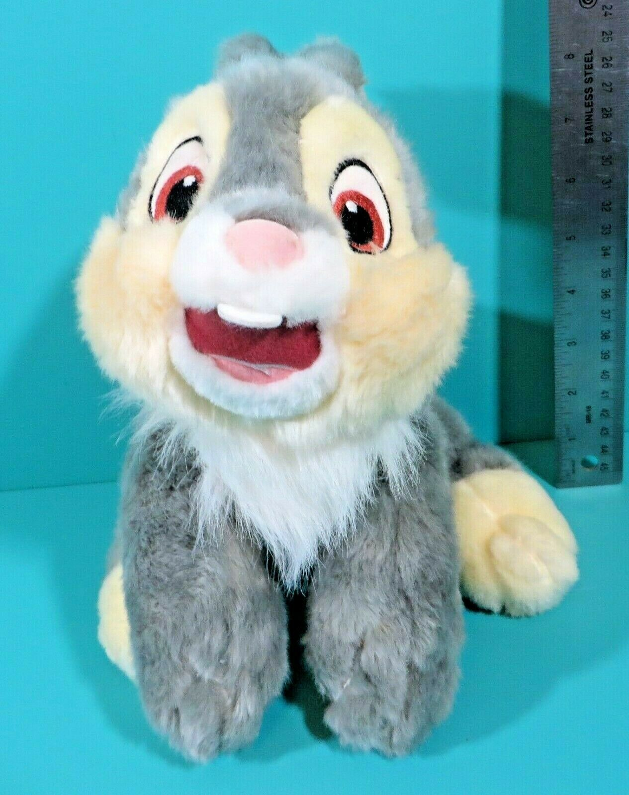"Primary image for Disney Store Bambi Thumper Gray Cream Bunny Rabbit 13"" Long Plush Stuffed Animal"