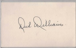DICK WILLIAMS Auto/Autograph 3x5 Index Card HOF Athletics/Expos (1929-2011) - $8.96