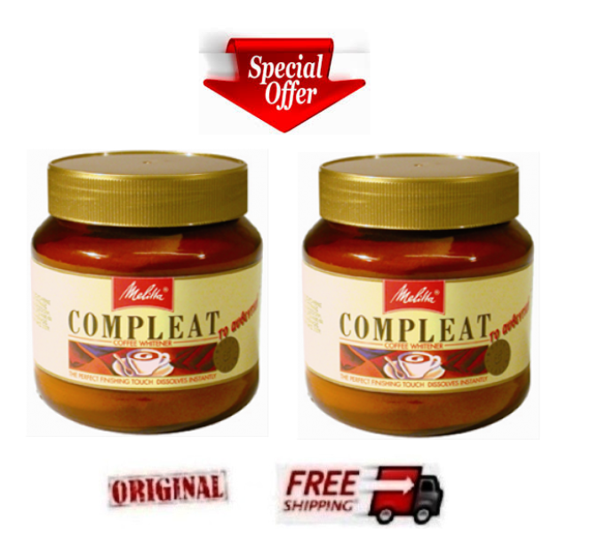 2 x MELITTA COMPLEAT Powdered Coffee Creamer (Coffee Mate)  Sugar Free 2 x 200ml - $20.74