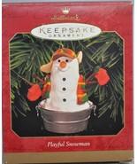 Hallmark - Playful Snowman - In Wash Tub - Classic Keepsake Ornament - $9.26