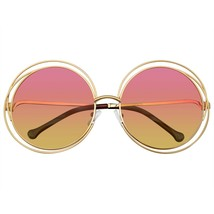 Round Sunglasses Double Wire Big Oversize Boho Circle Lens Sunglasses Retro - $8.50