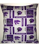 Kansas State Pillow Kansas State University Pillow NCAA HANDMADE IN USA KS - $11.96