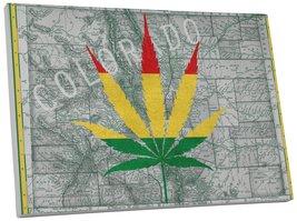 "Pingo World 0718QN6KA5G ""Colorado Marijuana Leaf"" Gallery Wrapped Canvas Art, 45 - $158.35"