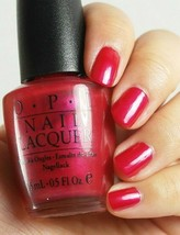 OPI Alpine DEER VALLEY SPICE Fuchsia Red Shimmer Nail Polish Lacquer .5 ... - $35.72