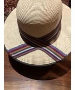 Vintage Beige Straw Wide 3 Inch Brim Hat - $62.47