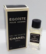 VTG Mini Eau Toilette ✿ CHANEL EGOISTE ✿ Perfume Parfum ~ (4ml. = 0.13 fl.oz) - $15.19