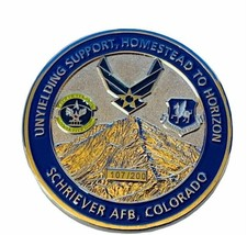 Challenge coin vtg service award military 50th mission Schriever air force CO b2 - $17.37