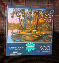 """Buffalo """"Eugene's Hunting & Fishing""""   500 piece Jigsaw Puzzle   - $9.90"""