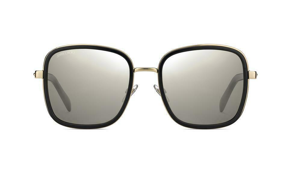 JIMMY CHOO ELVA/S Black Gold/Grey Mirror (2M2/T4 A) Women's Sunglasses  image 2
