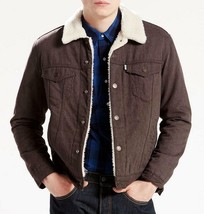 NEW LEVI'S MEN'S PREMIUM BUTTON UP FLANNEL SHERPA TRUCKER JACKET 163650015 image 1