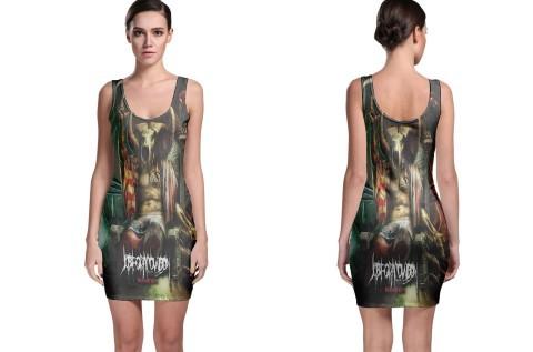 The matter of splatter bodycon dress