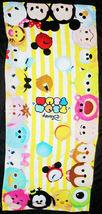 Mickey & Friend Tsum Tsum Disney Design Yellow Strip 34 X 80 Cm Cotton Towel - $10.99