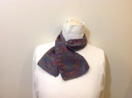 Handmade Rainbow Knit Childrens Scarf